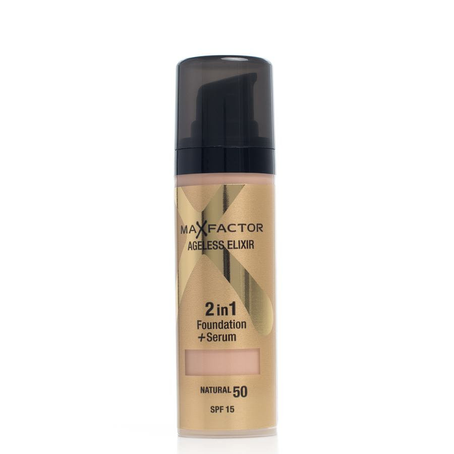 Max Factor Ageless Elixir 2-In-1 Foundation + Serum Natural 50 Spf15