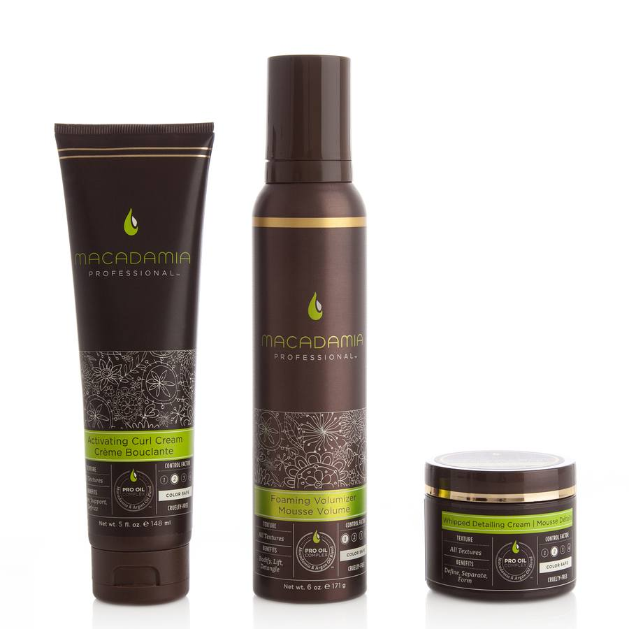 Macadamia Natural Oil  Luxurious Curls I 3 Deler