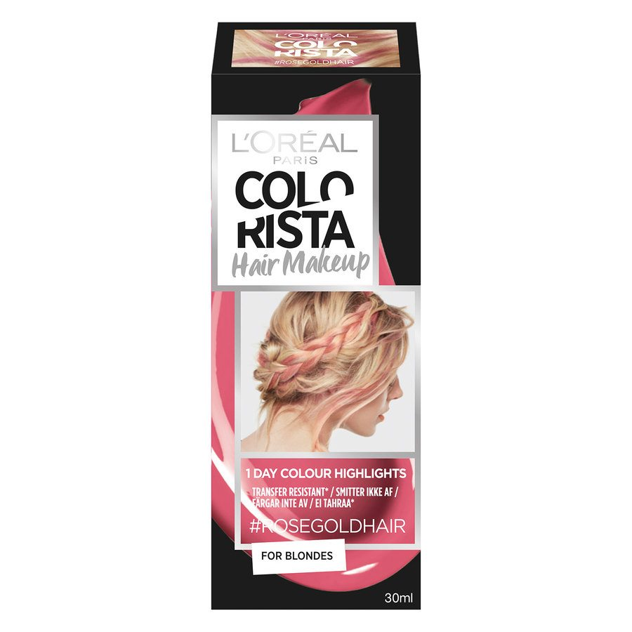L'Oréal Paris Colorista Hair Makeup 7 Rosegold