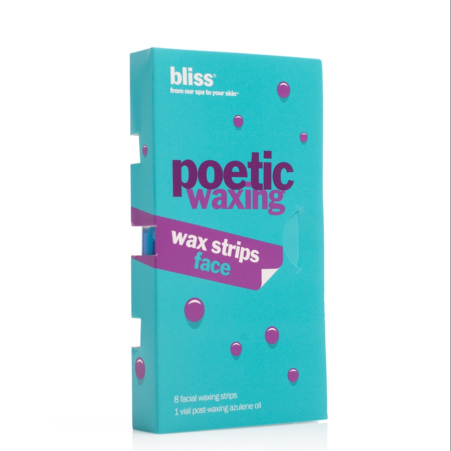 Bliss Hair Removal Poetic Waxing Wax Strips For Face 8 Dobbelsidede Strips