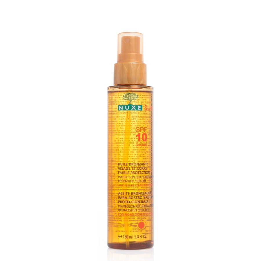 Nuxe Tanning Oil Face And Body Spf10 150ml