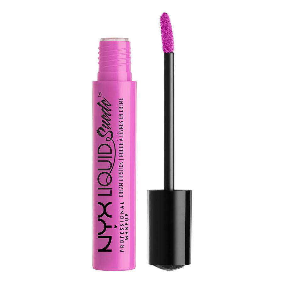 NYX Professional Makeup Liquid Suede Cream Lipstick Respect The Pink