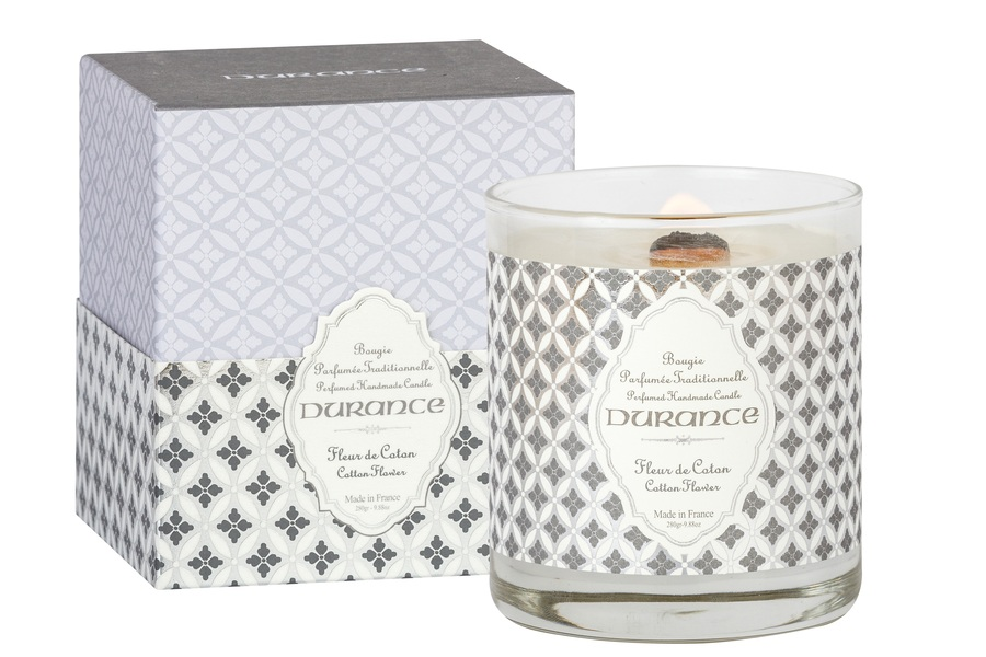 Durance Perfumed Handmade Candle Cotton Flower 280g