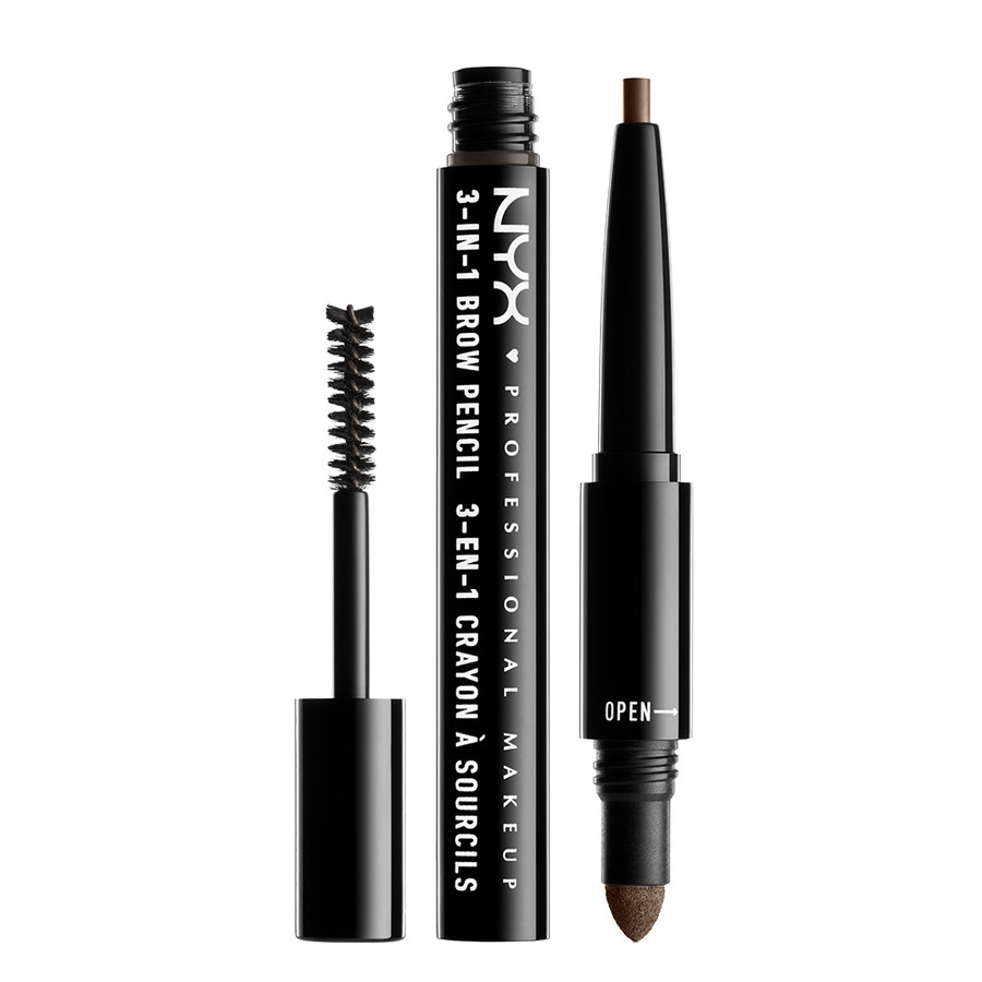 NYX Professional Makeup 3-In-1 Brow PencilAsh Brown