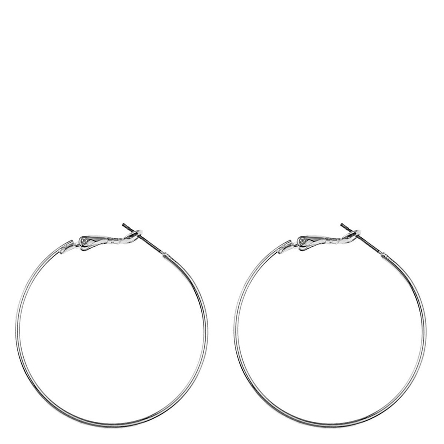 Snö Of Sweden Mystic Big Ring Earring Plain Silver 40mm