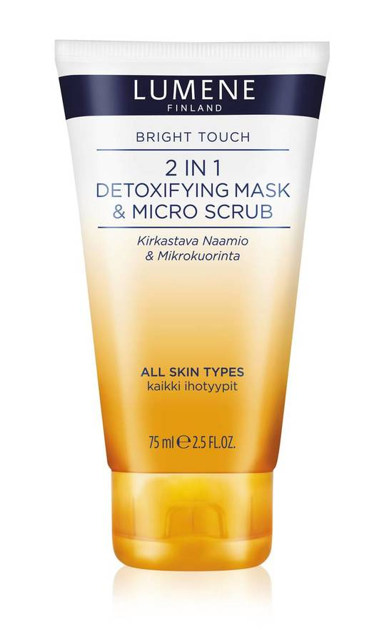 Lumene Skin Care Bright Touch 2in1 Detoxifying Mask & Micro-Scrub 75ml
