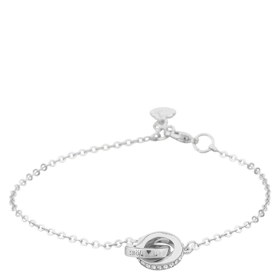 Snö Of Sweden Connected Chain Bracelet Silver/Clear 16-17cm