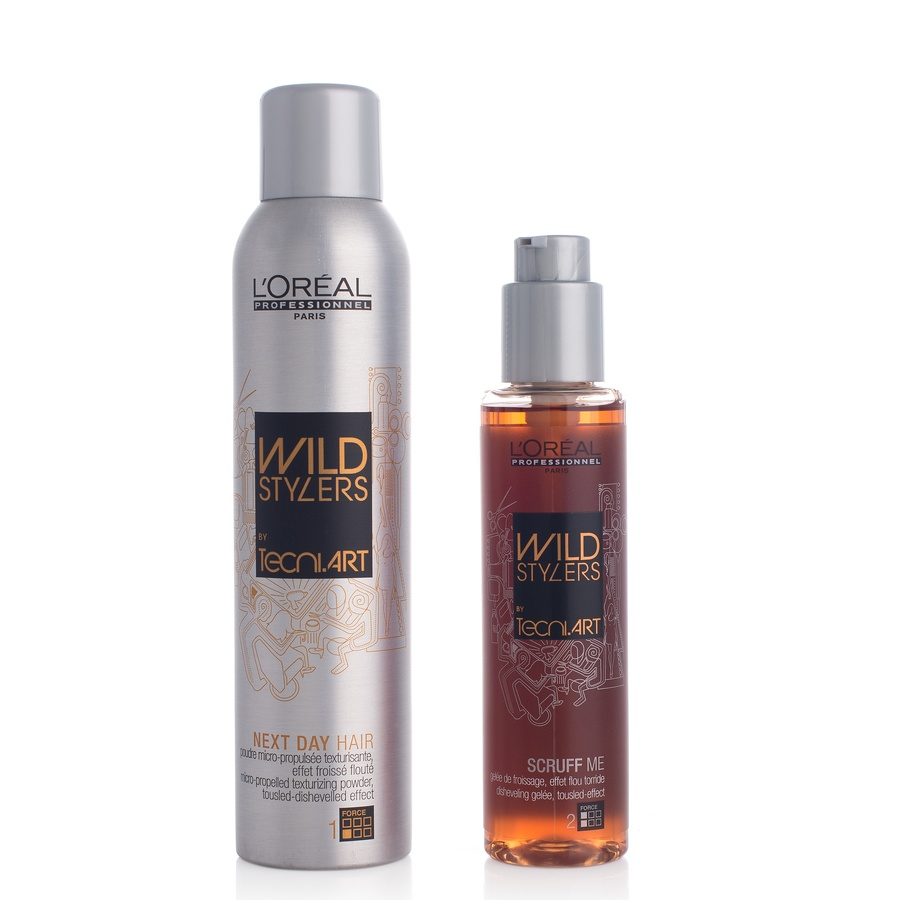 L'Oréal Professionnel Wild Stylers By Tecni Art Scruff Me 150ml & Next Day Hair 250ml