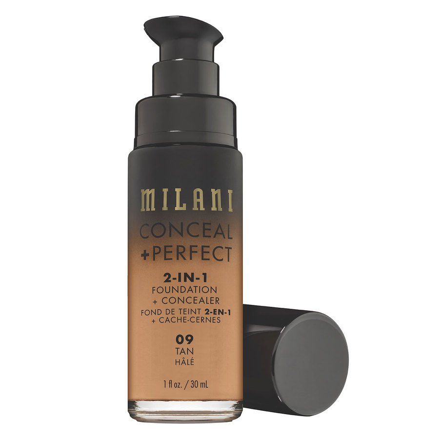Milani Cosmetics Conceal & Perfect 2 In 1 Foundation + Concealer Tan 30ml