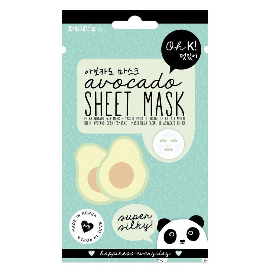 Oh K! Super Silky Avocado Sheet Face Mask 20ml
