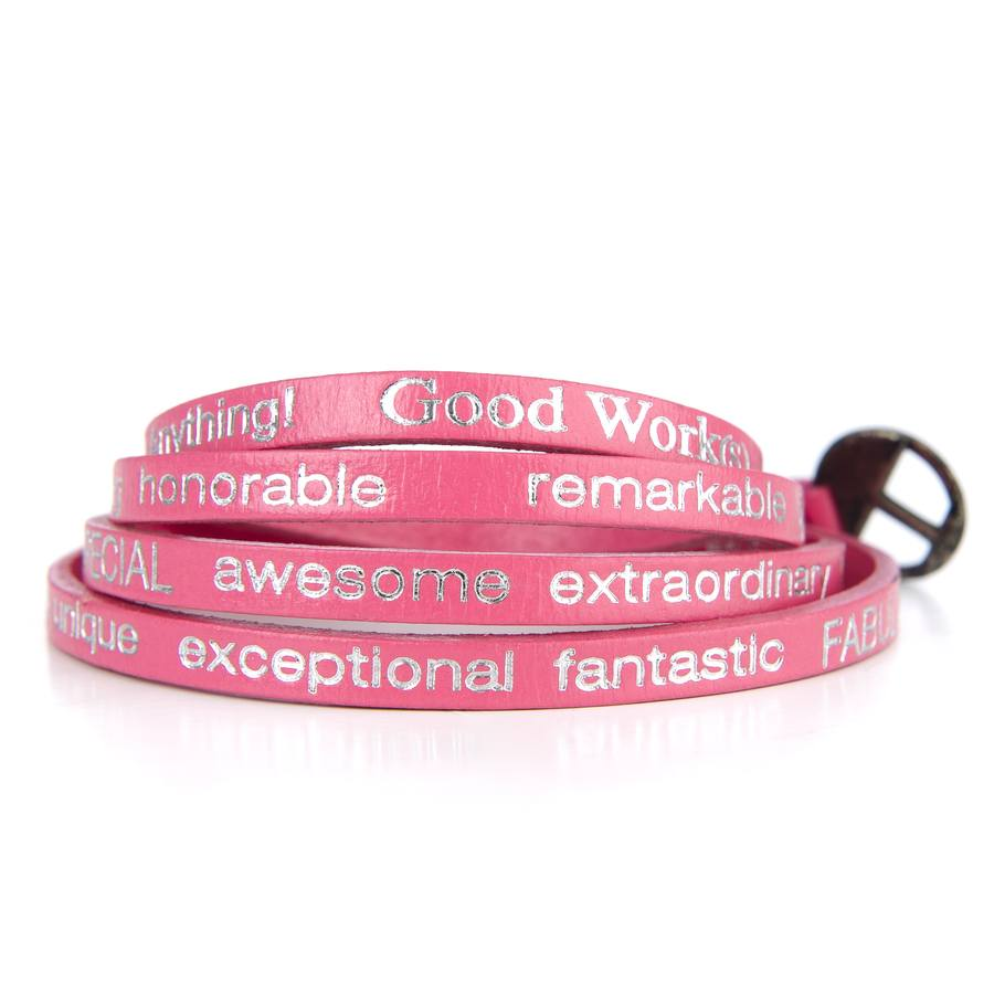 "Good Work(s) Wrap Around ""You are beautiful"" Hot Pink"