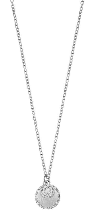 Snö Of Sweden Selma Pendant Necklace Silver/Clear 45cm