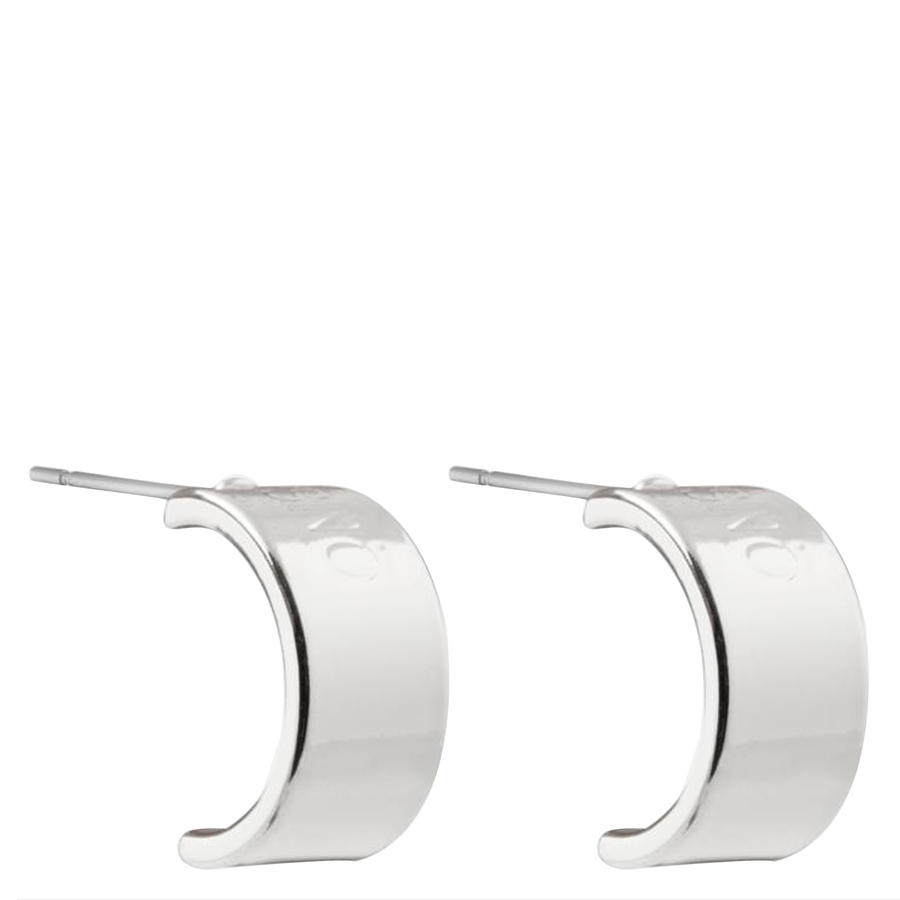 Snö of Sweden Alea Small Oval Earring Plain Silver 10mm