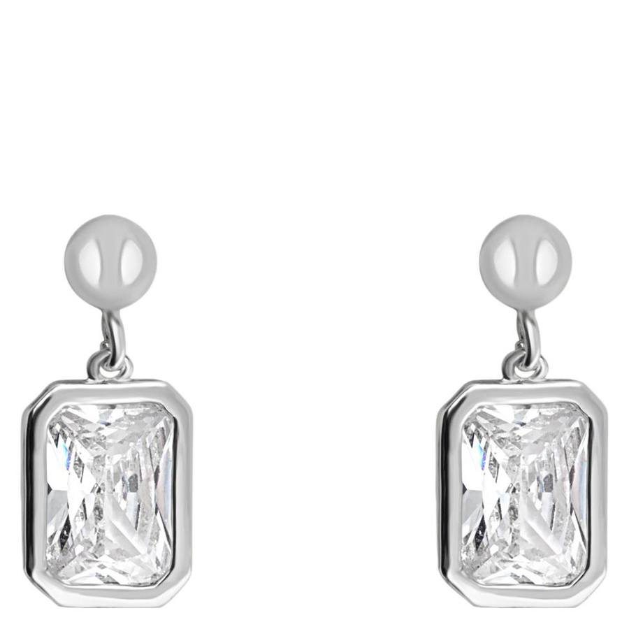 Snö of Sweden Twice Small Earring Silver/Clear 16mm