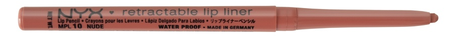NYX Retractable Lip Liner Nude Neutral Pink Beige MPL10