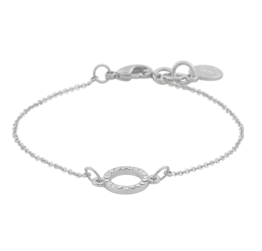 Snö Of Sweden Lily Chain Bracelet Silver/Clear 16-17cm