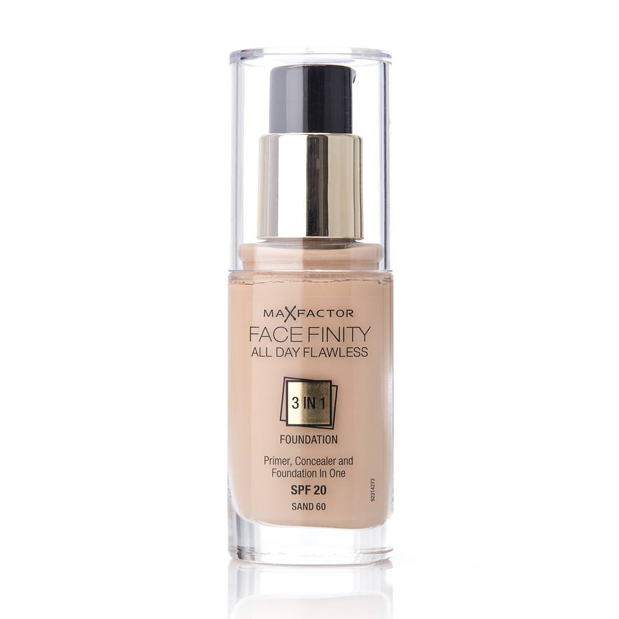 Max Factor Facefinity 3 In 1 Foundation 60 Sand 30ml