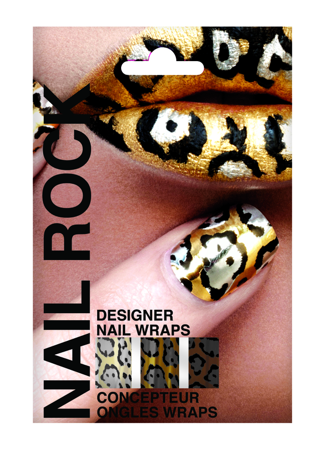 Rock Beauty Nail Rock Cheetah, Gold, Black and Silver