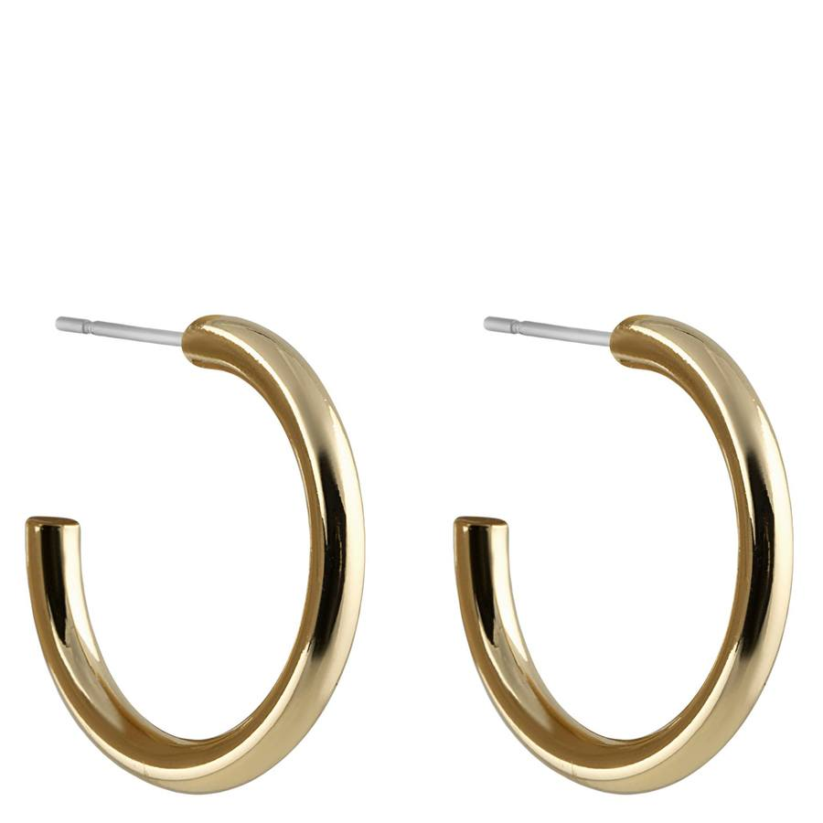 Snö of Sweden Adara Oval Earring Plain Gold 26mm