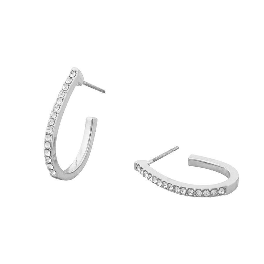 Snö of Sweden Corinne Oval Earring Silver/Clear