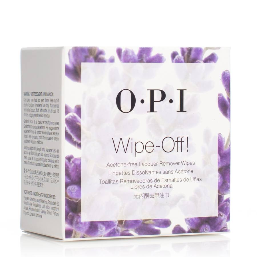 OPI Wipe-Off! Acetone-Free Lacquer Remover Wipes 10stk