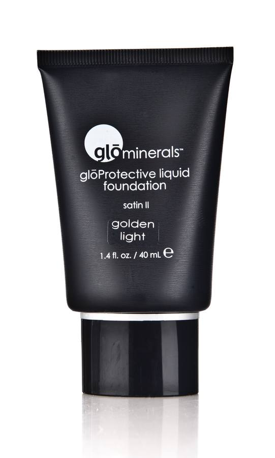 glóMinerals Protective Liquid Foundation-Satin II Golden Light 40ml