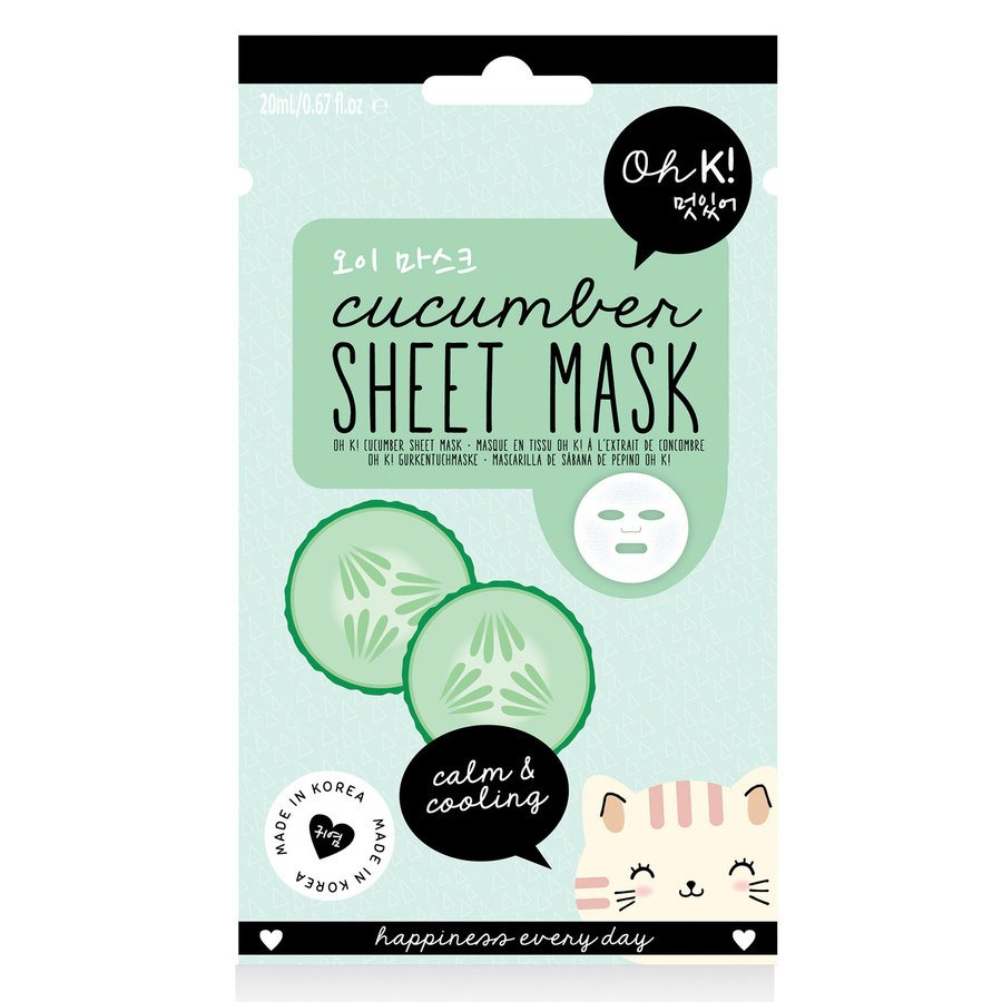 Oh K! Calm & Cooling Cucumber Sheet Face Mask 20ml