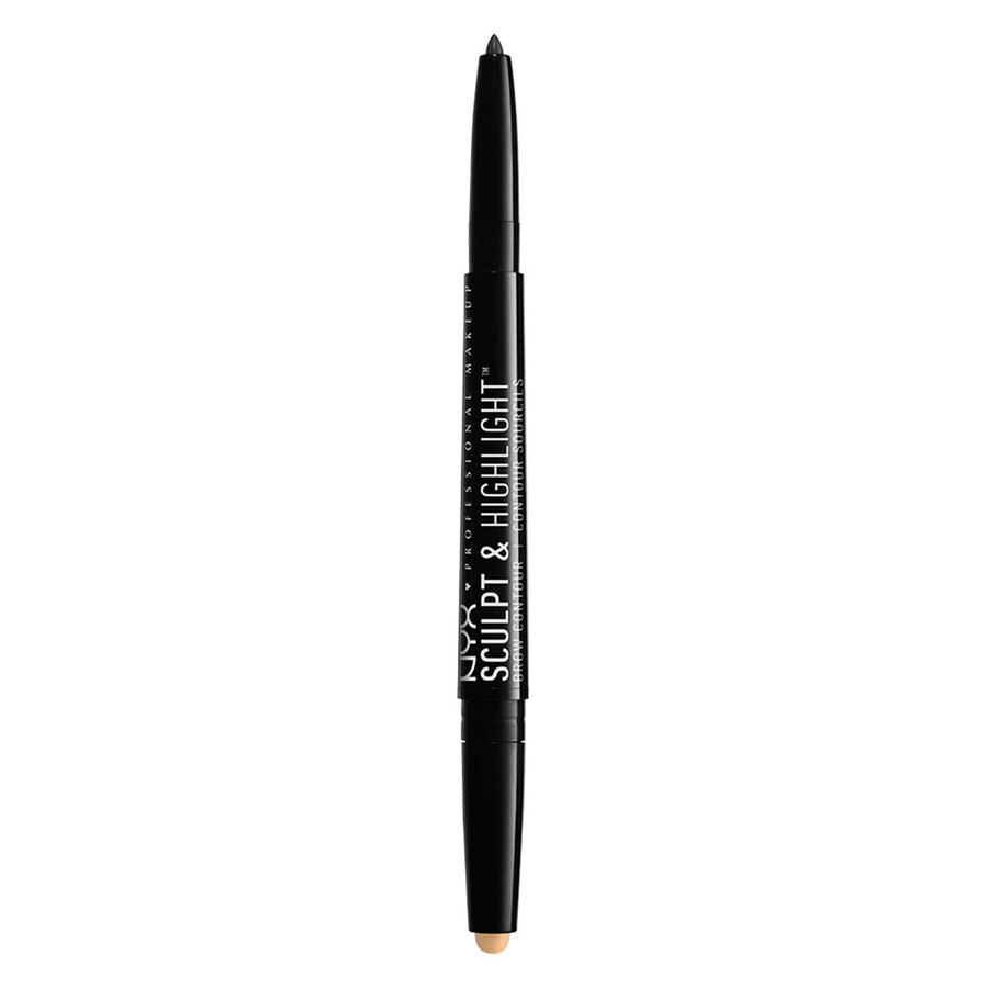 NYX Professional Makeup Sculpt & Highlight Brow Contour Black/Golden Peach