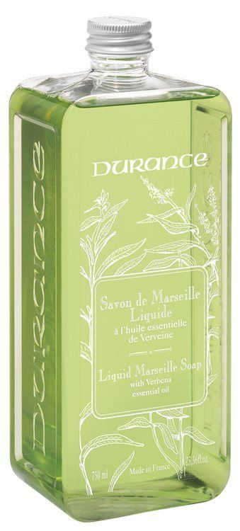Durance Liquid Marseille Soap With Verbena Essential Oil Refill 750ml