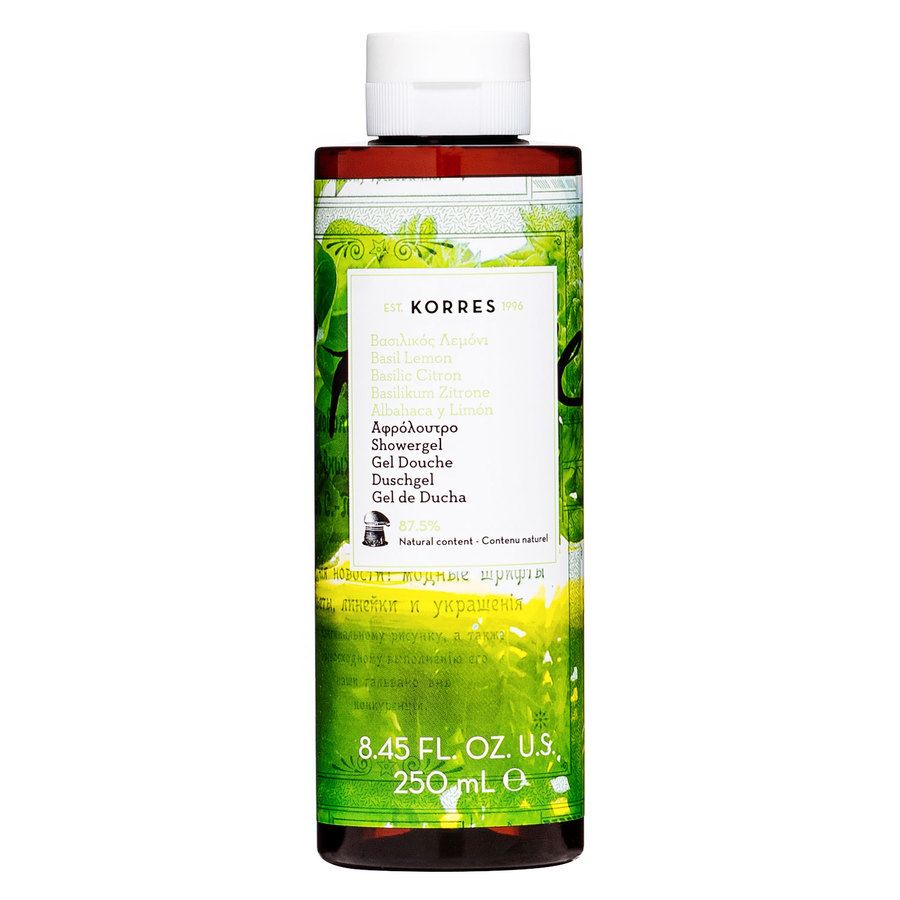 Korres Showergel Basil Lemon 250ml