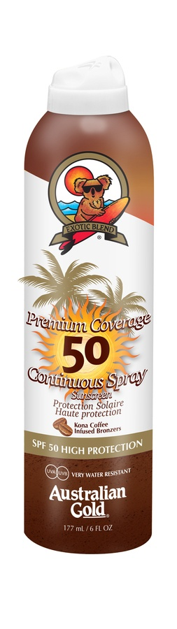 Australian Gold Premium Coverage Continuous Spray With Bronzer SPF 50 177ml