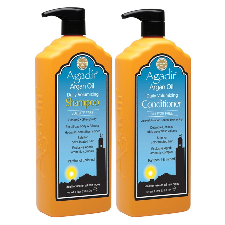 Agadir Daily Volumizing Shampoo and Conditioner 2x1000ml