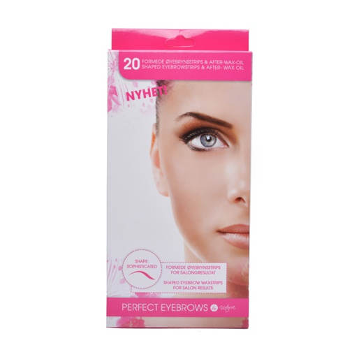 By Victoria Perfect Eyebrows Wax Strips 20stk