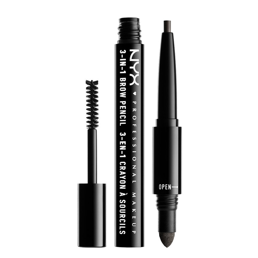 NYX Professional Makeup 3-In-1 Brow Pencil Black