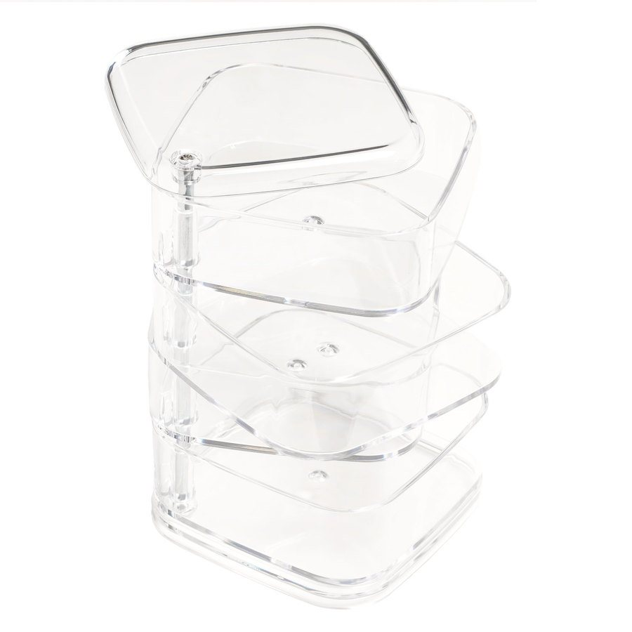 Cosmetic Organizer 4 Layer Square Swivel Box