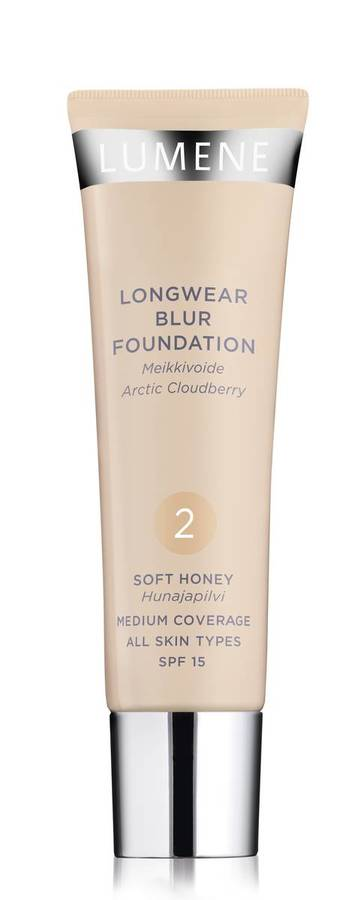 Lumene Longwear Blur Foundation SPF15 2 Soft Honey 30ml