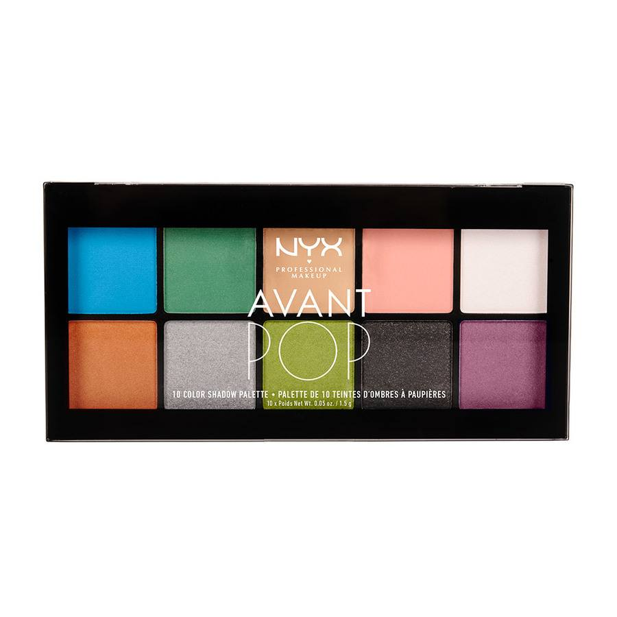 NYX Prof. Makeup Avant Pop 10 Color Shadow Palette Art Throb