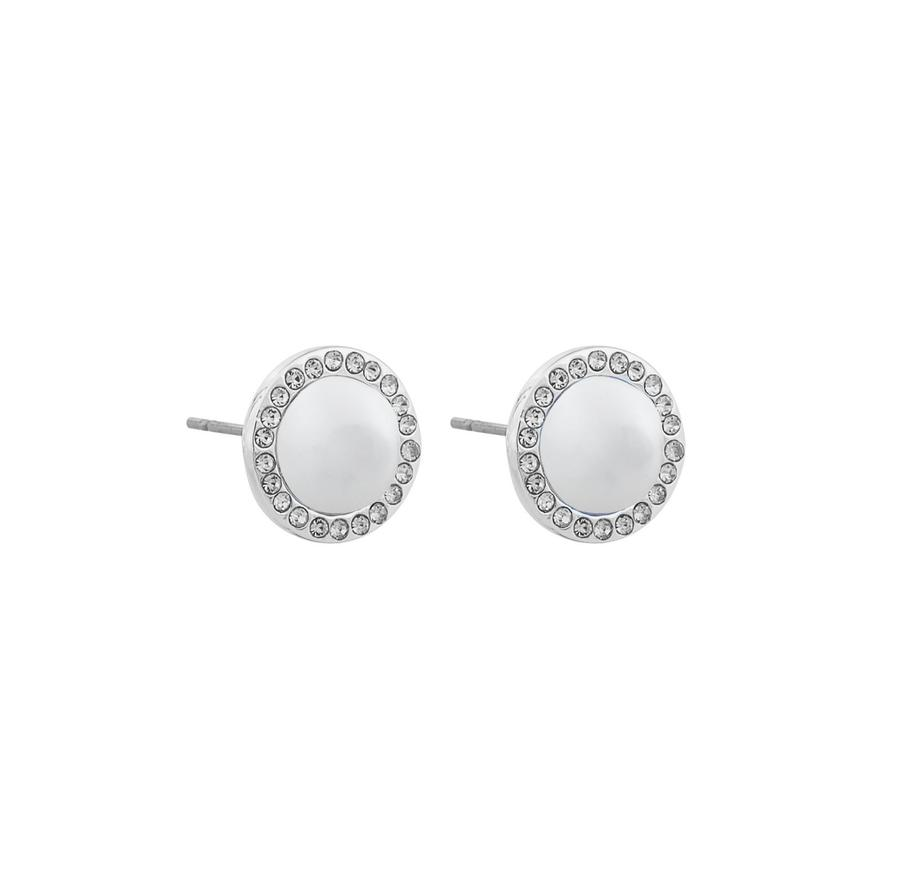 Snö Of Sweden Daria Small Pearl Earring Silver/White