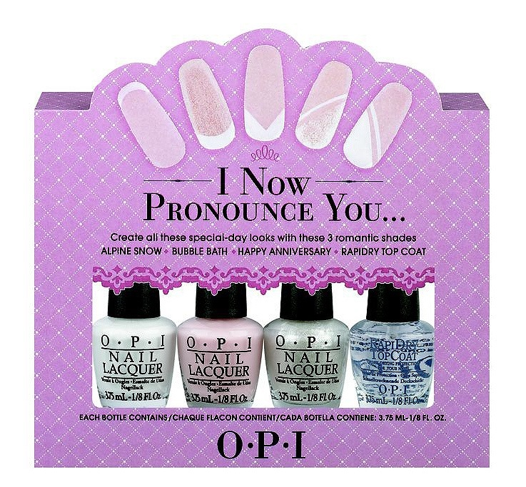 OPI I Now Pronounce You French Manicure Gavesett 4 x 3,75ml