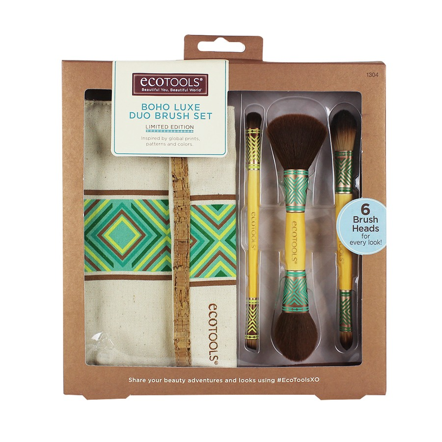 Eco Tools Boho Luxe Duo Brush Set Limited Edition 4 Deler