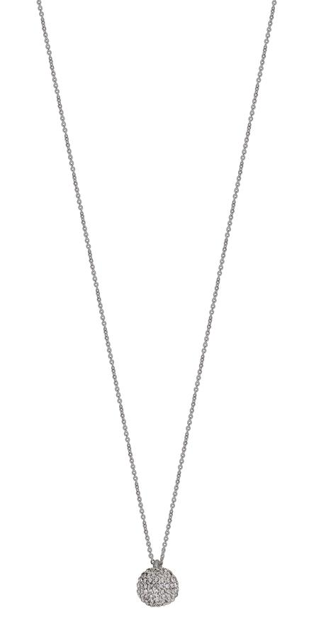 Snö Of Sweden Sassy Pendant Necklace Silver/Clear 45cm