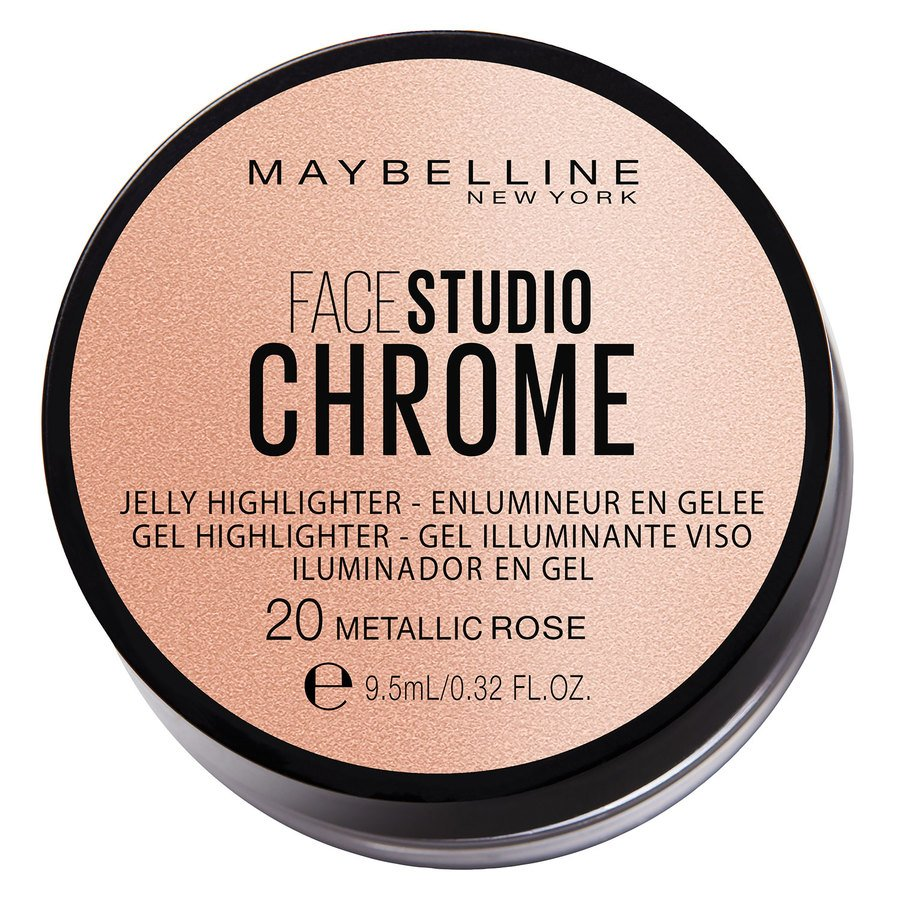 Maybelline Chrome Jelly Highlight #20 Metallic Rose 9,5ml
