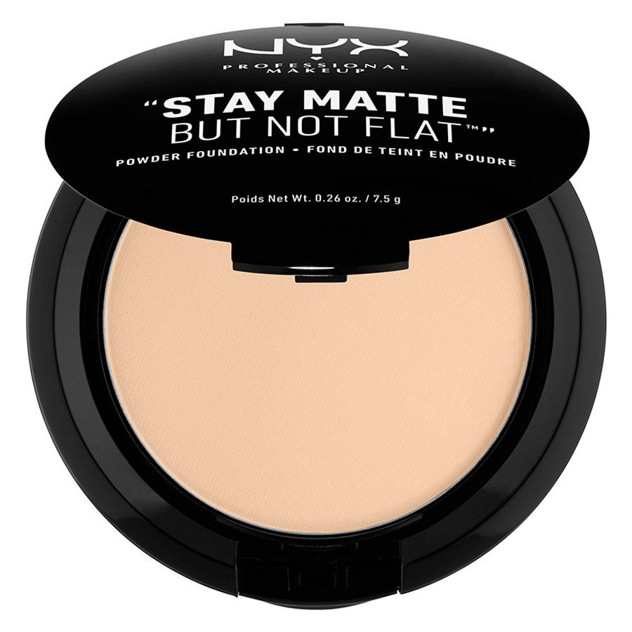 NYX Prof. Makeup Stay Matte But Not Flat Powder Foundation Nude SMP02