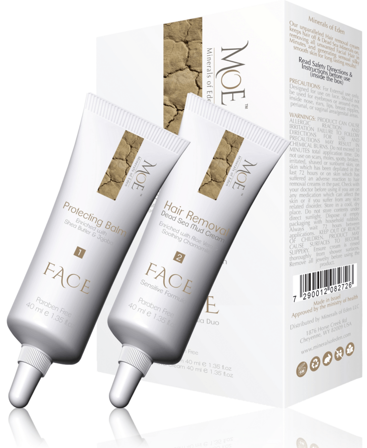 Minerals of Eden Women Face-Hair Removal Duo 2 x 40ml Protecting Balm & Hair Removal Cream