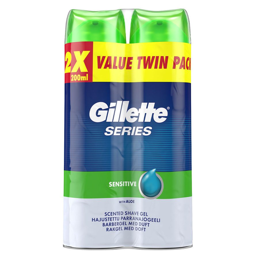 Gillette® Series Sensitive Gel 2x200ml Twinpack