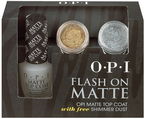 OPI Flash On Matte Top Coat With Free Shimmer Dust 15ml