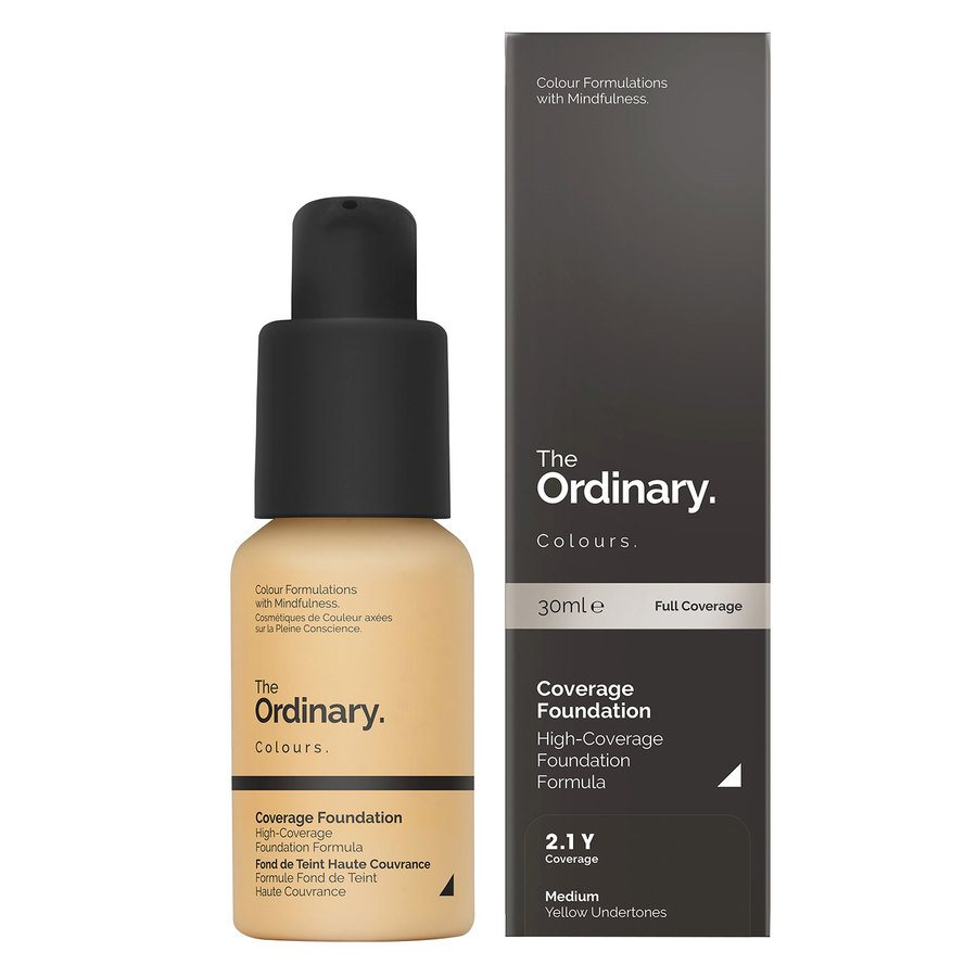 The Ordinary Coverage Foundation 2.1 Y Medium Yellow 30ml