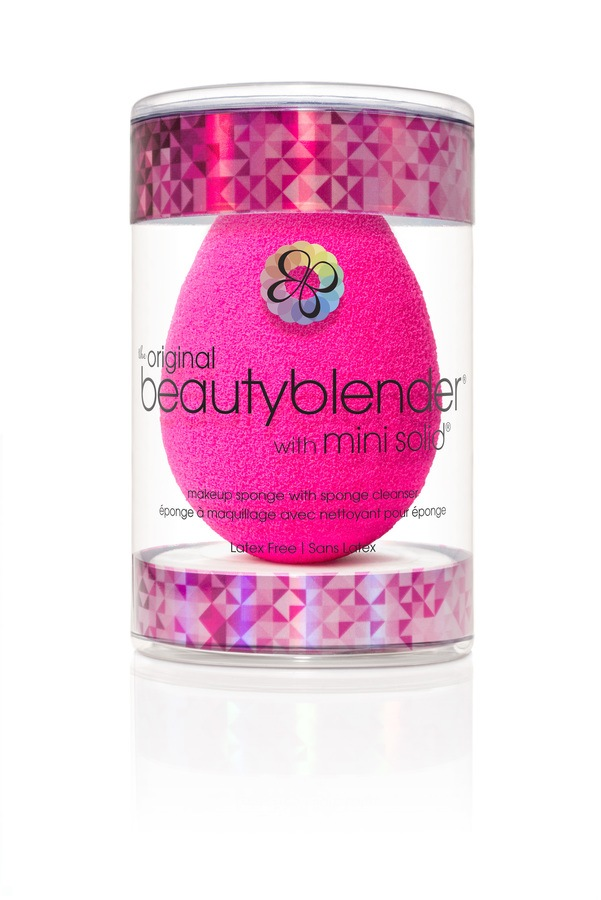 Beautyblender  original + mini solid cleanser in new holiday package