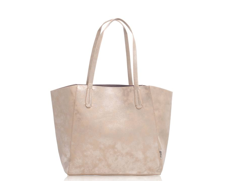 Shelas Tote Bag Metallic Silver