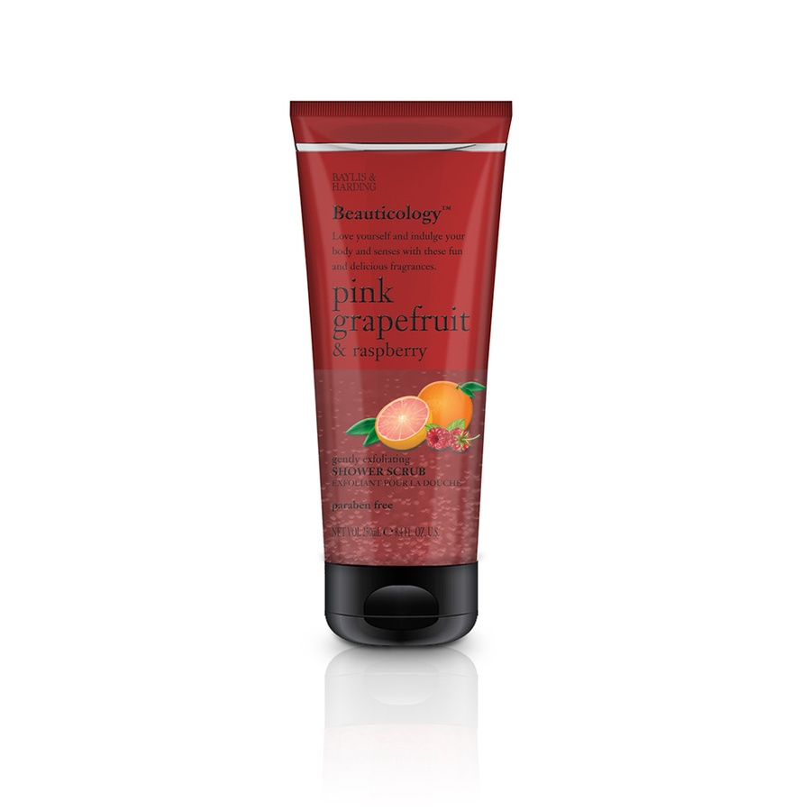 Baylis & Harding Beauticology Pink Grapefruit & Raspberry Shower Scrub Tube 250ml